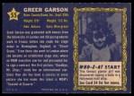 1953 Topps Who-Z-At Star #55  Greer Garson  Back Thumbnail