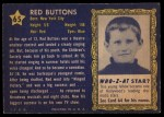 1953 Topps Who-Z-At Star #65  Red Buttons  Back Thumbnail