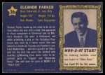 1953 Topps Who-Z-At Star #36  Eleanor Parker  Back Thumbnail