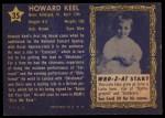 1953 Topps Who-Z-At Star #35  Howard Keel  Back Thumbnail