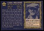 1953 Topps Who-Z-At Star #40  Cara Williams  Back Thumbnail
