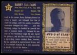 1953 Topps Who-Z-At Star #72  Barry Sullivan  Back Thumbnail