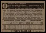 1952 Topps #36  Gil Hodges  Back Thumbnail
