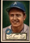1952 Topps #34 BLK Elmer Valo  Front Thumbnail