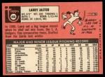 1969 Topps #496  Larry Jaster  Back Thumbnail