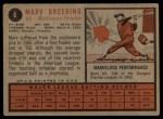 1962 Topps #6  Marv Breeding  Back Thumbnail