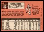 1969 Topps #351  Carroll Sembera  Back Thumbnail