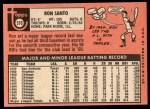 1969 Topps #570  Ron Santo  Back Thumbnail