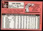 1969 Topps #503  Larry Brown  Back Thumbnail