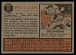 1962 Topps #382  Dick Williams  Back Thumbnail