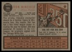 1962 Topps #386  Don Mincher  Back Thumbnail