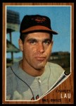 1962 Topps #533  Charley Lau  Front Thumbnail