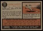 1962 Topps #558  John Goryl  Back Thumbnail