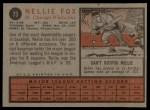 1962 Topps #73  Nellie Fox  Back Thumbnail