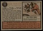 1962 Topps #426  Bob Farley  Back Thumbnail