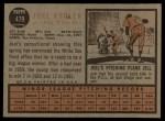 1962 Topps #479  Joel Horlen  Back Thumbnail