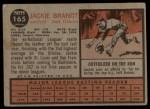 1962 Topps #165 GRN Jackie Brandt  Back Thumbnail