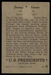1952 Bowman U.S. Presidents #18  James Buchanan    Back Thumbnail