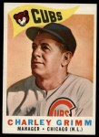1960 Topps #217  Charley Grimm    Front Thumbnail