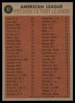 1962 Topps #57   -  Whitey Ford / Frank Lary / Steve Barber / Jim Bunning AL Win Leaders Back Thumbnail