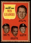 1962 Topps #57   -  Whitey Ford / Frank Lary / Steve Barber / Jim Bunning AL Win Leaders Front Thumbnail