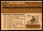 1960 Topps #436  Marv Throneberry  Back Thumbnail