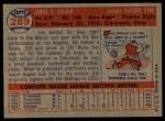 1957 Topps #289  Jim Bolger  Back Thumbnail