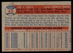 1957 Topps #45  Carl Furillo  Back Thumbnail