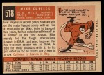 1959 Topps #518  Mike Cuellar  Back Thumbnail