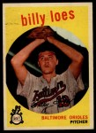 1959 Topps #336 xTR Billy Loes  Front Thumbnail
