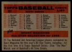 1958 Topps #397 *NUM*  Tigers Team Checklist Back Thumbnail