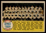 1958 Topps #397 *NUM*  Tigers Team Checklist Front Thumbnail