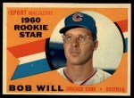 1960 Topps #147   -  Bob Will Rookie Star Front Thumbnail
