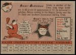 1958 Topps #49  Smoky Burgess  Back Thumbnail
