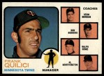 1973 Topps #49 ORG  -  Frank Quilici / Vern Morgan / Bob Rodgers / Ralph Rowe / Al Worthington Twins Leaders Front Thumbnail
