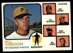 1973 Topps #517 ORG  -  Bill Virdon / Don Leppert / Bill Mazeroski / Dave Ricketts / Mel Wright Pirates Leaders Front Thumbnail