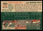 1954 Topps #176  Bob Keely  Back Thumbnail