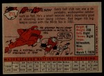 1958 Topps #213  Red Wilson  Back Thumbnail