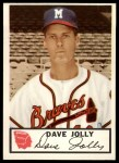 1953 Johnston Cookies #8  Dave Jolly  Front Thumbnail