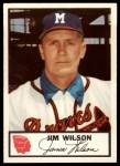 1953 Johnston Cookies #12  Jim Wilson   Front Thumbnail