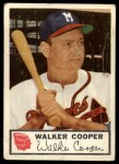 1953 Johnston Cookies #14  Walker Cooper   Front Thumbnail