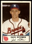 1953 Johnston Cookies #19  Jack Dittmer   Front Thumbnail