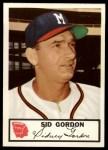 1953 Johnston Cookies #23  Sid Gordon   Front Thumbnail