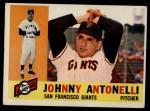 1960 Topps #80  Johnny Antonelli  Front Thumbnail