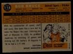 1960 Topps #118   -  Bob Bruce Rookie Star Back Thumbnail