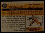 1960 Topps #123   -  Dan Dobbek Rookie Star Back Thumbnail