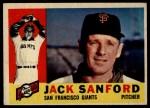 1960 Topps #165  Jack Sanford  Front Thumbnail