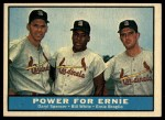 1961 Topps #451   -  Daryl Spencer / Bill White / Ernie Broglio Power for Ernie Front Thumbnail