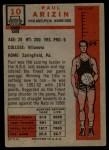 1957 Topps #10  Paul Arizin  Back Thumbnail