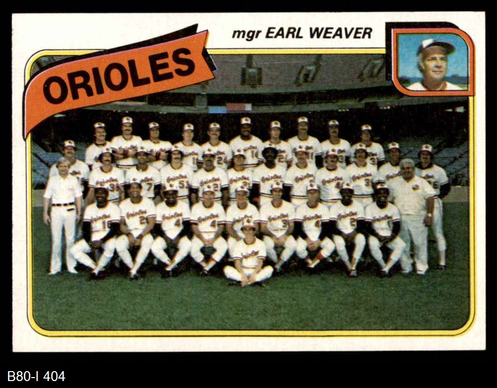 1980 Topps 1980 Topps Baltimore Orioles Team Set